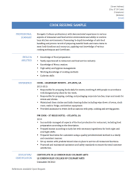 Line Cook Resume Sample by Cook Resume Objective Sample Contegri Com
