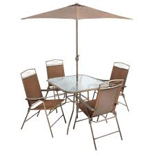 Patio Set With Umbrella by Bimini Brown Patio Set 6 Piece Christmas Tree Shops Andthat