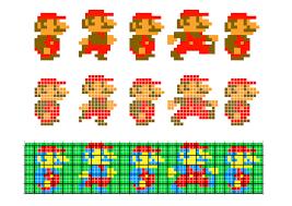 8 bit mario grid images reverse