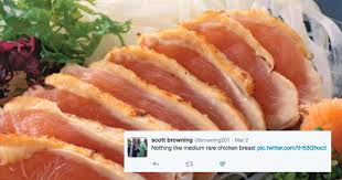 Breast Meme - people on twitter seem to think that eating medium rare chicken is