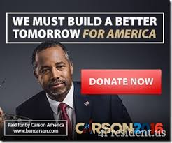 ben carson presidential bid ben carson we must build a better tomorrow for america 2016