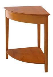 Wooden Corner Shelf Plans by Amazon Com Winsome Wood Corner Desk With Shelf Honey Kitchen