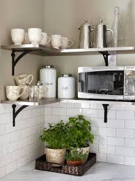 kitchen shelves ideas modern white dining chairs wall mounted