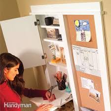 kitchen message center ideas how to build a message center family handyman