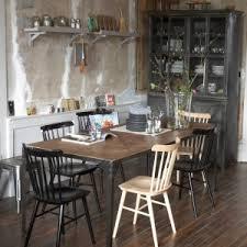 cuisine bois et fer table de cuisine bois et fer idée de modèle de cuisine