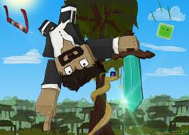 captainsparklez minecraft jump from jerry u0027s tree by dontwantanending on deviantart