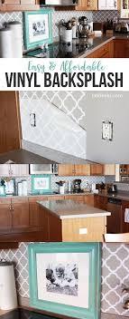 inexpensive backsplash ideas for kitchen easy vinyl backsplash for the kitchen vinyl backsplash
