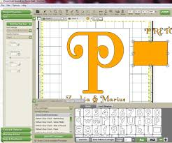 the non crafty crafter cricut ccr making a split letter monogram