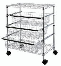 tp 2474 4 tier kitchen sliding wire drawers with storage basket
