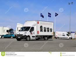 volvo truck range renault master 150 35 cc l3 truck editorial photography image