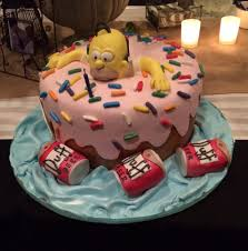 homer simpson birthday cake custom cake unik cakes yelp