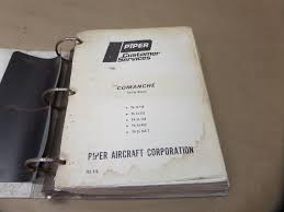 piper comanche pa 24 180 250 260 400 260t service manual and other