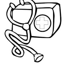 first aid kit is one of medical tools coloring page first aid kit