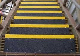 anti slip stair treads and nosing fiberglass