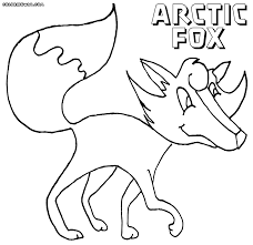 arctic fox coloring page coloring pages arctic fox coloring page