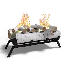 elite flame 18 inch birch convert to ethanol fireplace log set grate