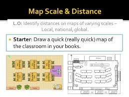 map scales map scale distance l o identify distances on maps of varying