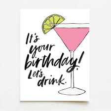 martini birthday card all greetings u2014 wink wink paper co