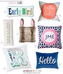 Nursery Decorative Pillows Pillow Talk Nursery Throw Pillows Project Nursery