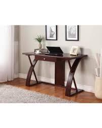 dark brown computer desk memorial day sale roundhill furniture clay alder home clark solid
