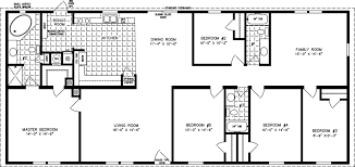 Floor Plans For Mobile Homes Single Wide Five Bedroom Mobile Homes L 5 Bedroom Floor Plans