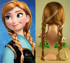 anna from frozen hairstyle disney frozen anna wig adult and child option a8 by saycay 19 90