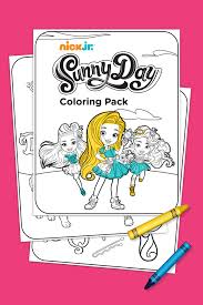 sunny day coloring pack nickelodeon parents