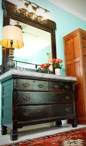 Dresser Style Bathroom Vanity by Custom Dresser Vanity With Concrete Top Eclectic Bathroom Other