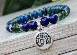 blue bead bracelet images Handcrafted gemstone bead bracelets by bluestoneriver JPG