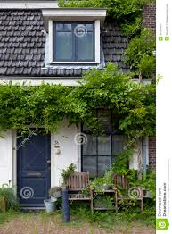 brick tiny house tiny house with green plants stock image image 36768437
