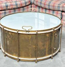 brass and glass drum coffee table ebth australia 038 thippo