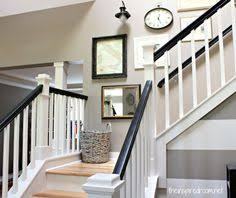 Painting A Banister White Nesting In The Entry Creating Ambience With A Beaded Crystal