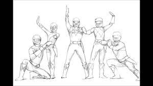 draw power rangers samurai