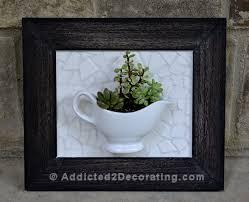 how to make a mosaic tile gravy boat framed succulent planter