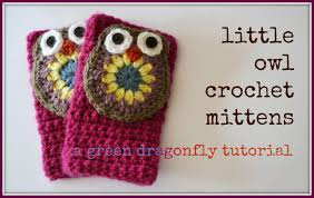 owl mittens u2013 the green dragonfly