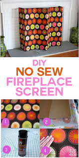 no sew decorative fireplace screen practically made for you in