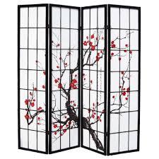 shoji room divider shoji with cherry tree in blossom