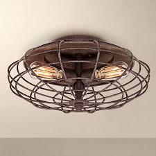 Lighting Fixtures Industrial by Industrial Cage Dark Rust 8 1 2