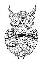 a owl to have a good time with all this zentangle forms from