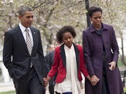 us president barack obama w daughter sasha u0026 first lady michelle