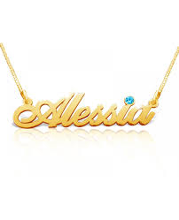 name gold necklace solid 14k gold name necklaces the name necklace