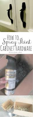 how to spray paint cabinet hardware this cabinet hardware looks brand new but it s actually