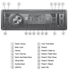 amazon com dual xr4110 in dash mp3 wma am fm receiver with