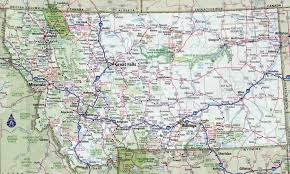 Interstate Map Of United States by Large Detailed Roads And Highways Map Of Montana State With All