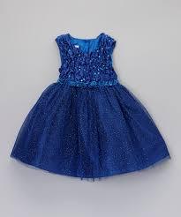 rosenau beck royal blue sparkle overlay dress toddler zulily