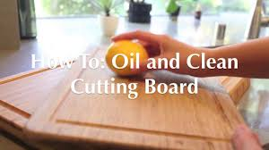 how to oil and treat cutting boards youtube