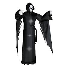 Reaper Halloween Costume Shop 6 Ft Internal Light Grim Reaper Halloween Inflatable Lowes