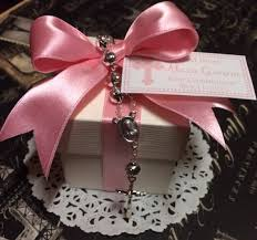 rosary favors for baptism communion baptism confirmation or christening favor with