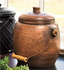 compost canister kitchen copper compost crock kitchen composters problem solvers