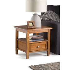Simpli Home Warm Shaker Tv Stand Simpli Home Warm Shaker End Side Table Walmart Com
